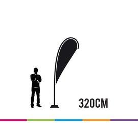 Vlag drop 320 cm strong fiber mast