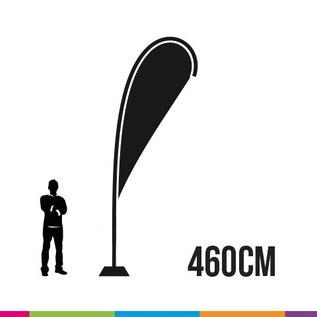 Flag drop 460 cm strong fiber mast