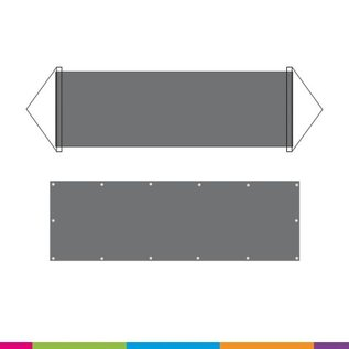 PVC BLACKOUT  OUTDOOR BANNER 610g/m2