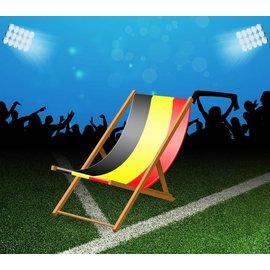 Beach chair with belgian flag