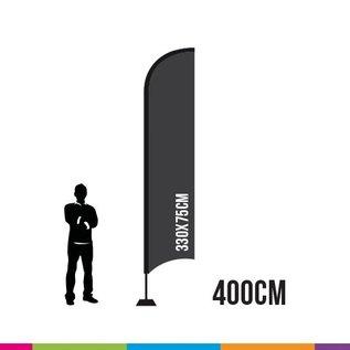 FLAG STRAIGHT 400 X 75CM ALU MAST 28MM (TORNADO)