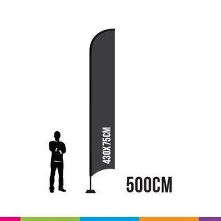 VLAG STRAIGHT 500 X 75CM ALU MAST 28MM  (TORNADO)  (PROFESSIONAL)