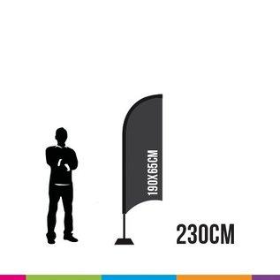 FLAG STRAIGHT 230 X 65CM ALU MAST 28MM    (TORNADO)