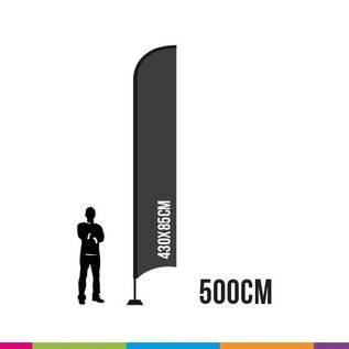 VLAG STRAIGHT 500 X 85CM ALU MAST 28MM (PROFESSIONAL)