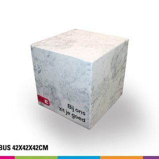 Zitkubus 42 cm bedrukt (Prijs bij 4 stuks afname)