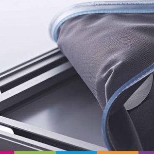 Textielframe (230 cm hoogte) (set: frame, 2 voeten, bedrukt doek)