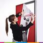 Textile frame 230 cm H (set: frame, 2 bases, fabric printed)