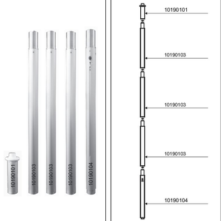 Startent double 140 (22M lengte) -  Full digitaal bedrukt  - Velcro