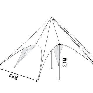 STARTENT 40 WHITE SHOWROOM WITH 3 SIDEWALLS (zipper)