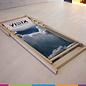 Beach chair with print