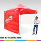 4x4M TENT - VALANCE AND ROOF FULL COLOUR PRINTED