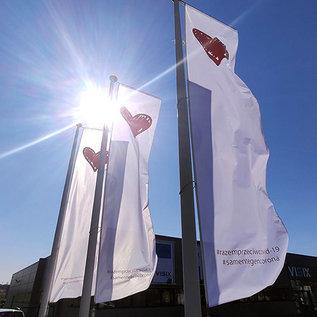 Baniervlag met galg: 300x100cm (hxb) #samensterk