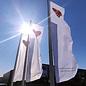 Flag with tunnel: 300x100cm (hxw) #samensterk
