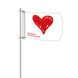 Baniervlag zonder galg: 100x150cm (hxb) #samensterk