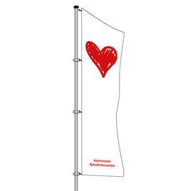 Baniervlag zonder galg: 300x100cm (hxb)