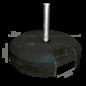 Rubbervoet 25KG voor fiber mast + verticale steun
