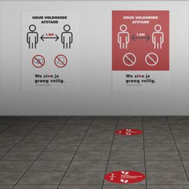 Starterskit vloer en afstandstickers (10 stuks)