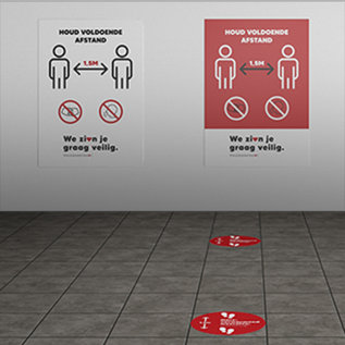 Stickers - starterkit - 10 stickers voor vloer en wand