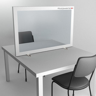 Social distancing in the office with aluminum partitions