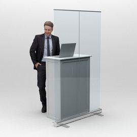 Rollup  transparent - Business hardware  (min 4 stuks)