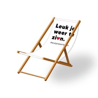 Strandstoel met bedrukking