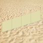 Strandscherm ivoor (400x100cm) (Minimale afname 5 stuks)