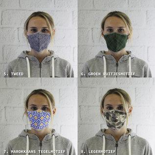 Comfortmasker met ontwerp - Stel zelf uw pakket samen (min 10 stuks)