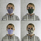 Mouthmasks with printed design  (min 10 pieces)