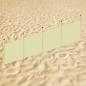 Strandscherm met bedrukking (400x100cm) (vanaf 5 stuks)