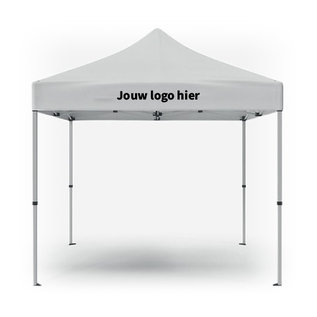 Folding tent 3x3M with free printing on 2 sides of the valance