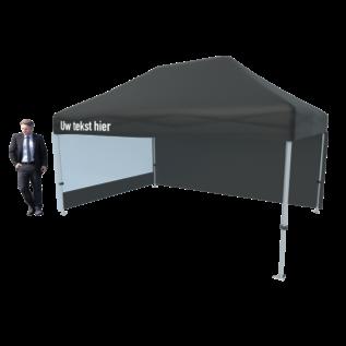 Tent foldable 4,5x3M black (valance printed)