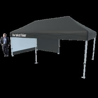Tent foldable 6x3M black (valance printed)