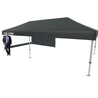 Tent foldable 8x4 M black (valance printed)