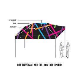 4,5x3M TENT - DAK EN VOLANT MET FULL DIGITALE OPDRUK