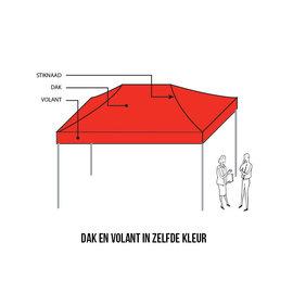 4,5x3M TENT - DAK EN VOLANT IN ZELFDE KLEUR