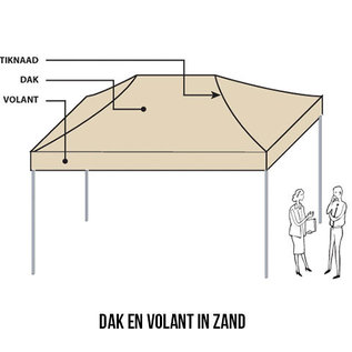 4,5x3M TENT - ROOF AND VALANCE  SAND