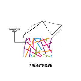 ZIJWAND 3m - Full colour - Dubbelzijdig