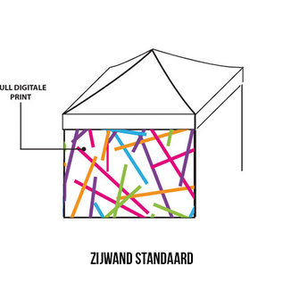 Zijwand 4m - Full colour