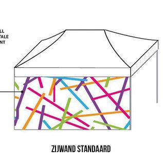 Zijwand 4,5m - Full colour - Dubbelzijdig