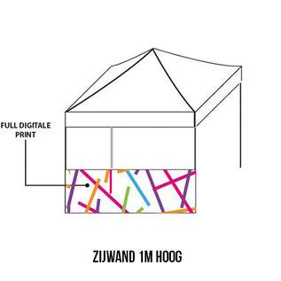 Sidewall 4x1m (1/2 sidewall) Full colour