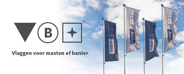 Vlaggen voor masten of banier