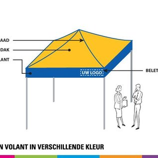 3X3M TENT - STANDARD COLOUR COMBINATION