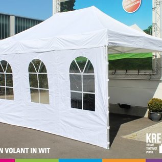 4,5x3M TENT - ROOF AND VALANCE  WHITE