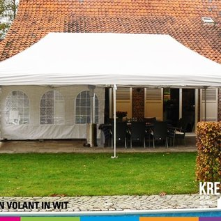 8X4M TENT - ROOF AND VALANCE WHITE