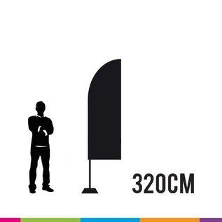 flag straight 320 x 65cm alu