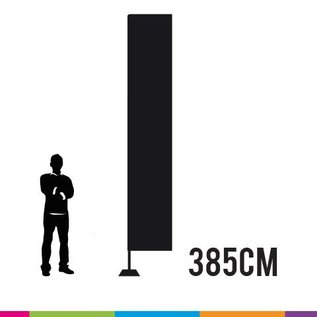 Beachvlag square 385 x 65 cm. Doek en mast uit aluminium 25 mm