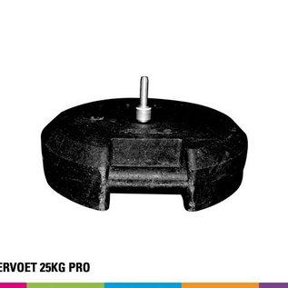Rubber base 25kg for fiber pole + vertical support