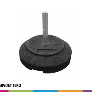 Rubbervoet 15KG (Onbreekbaar) incl verticale steun