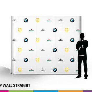 Pop up wall straight beurswand