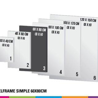Textielframe simple 60x80cm - Frame + doek (Prijs 4 sets)